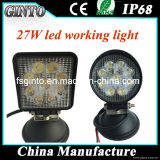 Cuadrado caliente de la venta 4inch 27W/luz redonda del trabajo del LED con E-MARK aprobado