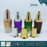 цветастая косметическая стеклянная бутылка лосьона 30ml и бутылка капельницы стекла