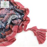 De volks BloemenRaadsel Afgedrukte Sjaal van de Stijl met de Sjaal van de Manier van de Leeswijzer