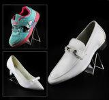 Étalage acrylique personnalisé de chaussures de qualité avec le logo pour le nike