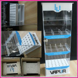 Kundenspezifische an der Wand befestigte Zigaretten-Bildschirmanzeige-acrylsauerzahnstangen