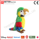 Brinquedo macio enchido Lifelike do papagaio do Macaw animal do luxuoso