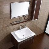 Vanità antica della stanza da bagno dell'acciaio inossidabile con il Governo del lato e della mensola