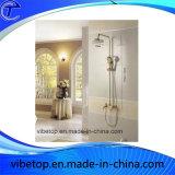 Robinet de douche de salle de bains et tête de douche annexes