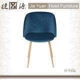 Hotel-Wohnzimmer-Arm-Stuhl mit den starken Stahlbeinen (JY-F102)