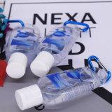 Wasserloser Handdesinfizierer ohne befeuchtende Raupen mit Carabiner