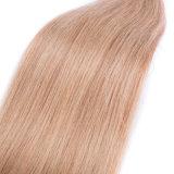 Выдвижение человеческих волос бразильянина 100% Я-Наклоняет прямую волос кератина шелковистая