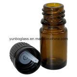 Glasflaschen des bernsteinfarbigen Duftstoff-5ml/des wesentlichen Öls mit Glastropfenzähler/feinem Nebel/Spray-Pumpe/Überwurfmutter