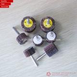 Roda da aleta para a máquina do aço inoxidável ou da roda da aleta (roda abrasiva da aleta com eixo)