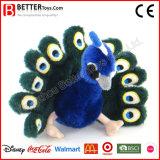 China vulde de Dierlijke Zachte Pauw van het Stuk speelgoed van de Pluche