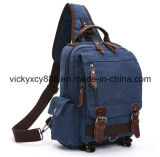 Singolo sacchetto della cassa dello zaino della cartella del iPad della spalla della tela di canapa durevole (CY3657)