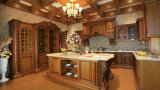 Gabinetes de cozinha Home da mobília da cozinha da série feito-à-medida da madeira contínua