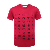 Les chemises 100% courtes de coton ont comprimé l'utilisation de promotion de T-shirt