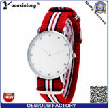 Dame van Montre Homme Relogio Masculino Reloj Hombre van de Klok van het Uur van yxl-227 2016 de Hete van de Verkoop Nylon van de Riem van het Horloge van de Mensen van het Horloge van de Manier Horloges van de Diamant Uiterst dunne Mannelijke