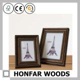 Frame de foto em madeira maciça de ouro Paisley para presente promocional