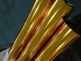 Фольга передачи тепла золота горячая штемпелюя для ткани и подгонянного одеждой размера
