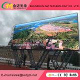 Pantalla video a todo color de la publicidad al aire libre LED de P10mm (tarjeta de los 3*2m/8*3m)