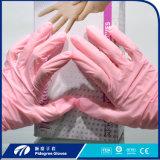 Дешевый изготовления Китая устранимый, навальный порошок свободно пурпуровое имеющееся /Pink перчатки нитрила