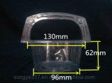 Paquete de ampolla transparente creativo disponible de la ensalada de fruta de la torta de la cesta de mano