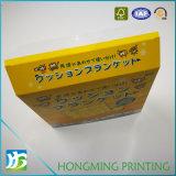 Rectángulo de papel de encargo a dos caras del acondicionamiento de los alimentos de la tarjeta