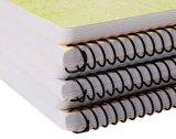 A4/A5 comerciano i taccuini a spirale di plastica duri colorati marchio personalizzati del doppio anello del coperchio dei pp/pubblicazioni all'ingrosso rilegate per il banco