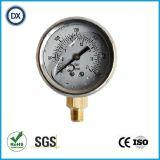 Mesure remplie d'huile liquide de la pression atmosphérique 007 avec l'acier inoxydable