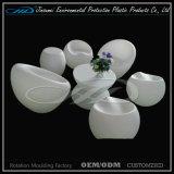Table basse extérieure matérielle de meubles du PE moderne DEL