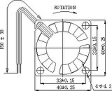 ventilador sem escova da C.C. de 5/12V 40X40X10mm H com aprovações