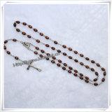Branelli in lega di zinco della Rosa con la traversa del Jesus con il disegno dei rosari della collana dei branelli della catena di modo del rosario (IO-cr366)