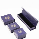 Geprägter Drucken-abgrifffester Velourslederleatherette-Papierkasten (J40-E2)