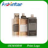 3 em 1 movimentação de alta velocidade do flash do USB do telefone do plugue OTG para o Ios do iPhone e o Android