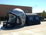 Раздувной тоннель шлема футбола, большой раздувной шлем футбола для игры спорта