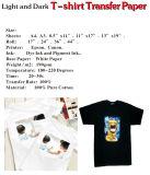 Taille A4 Fer-sur le papier de transfert thermique de T-shirt de jet d'encre pour Canon/imprimante à jet d'encre d'Epson/laser