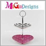Elegante Geschenk-bunte Heart-Shaped keramische Kuchen-Platte