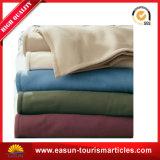 工場価格の赤ん坊の柔らかく厚いブラウンの軍隊のウール毛布