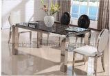 調節可能な普及した熱いデザインステンレス鋼の正方形のダイニングテーブルセット