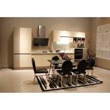 ホームデザイン現代線形白いラッカーMDFの木の台所食器棚