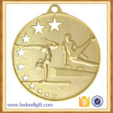 Medalla gimnástica plateada oro de la competición de la depresión de la aleación del cinc