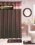 Jogos barato 100% da cortina de chuveiro do banheiro de Brown do poliéster