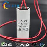Начните конденсатор для полипропилена металлизированного кондиционером (Cbb60 605j/450VAC) с проводом