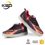 2016 ботинок USB Recahrgeable СИД взрослого идущих ботинок освещения девушок PU способа внезапных