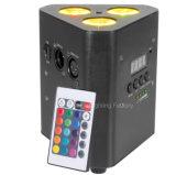 4in1 RGBW電池の無線平らな屋内同価ライト