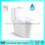 Toilet van de Besparing van het Water van het Gebruik van de badkamers het Ééndelige met Amerikaanse Norm
