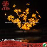 بلاستيك اصطناعيّة [لد] زخرفيّة [بونسي] شجرة ضوء مع زهرة بلاستيكيّة