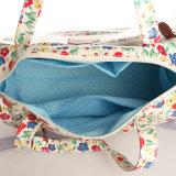 防水PVCジッパーのProcket花パターン旅行袋(99197)