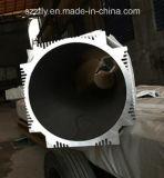 Tuyauterie/tube/pipe en aluminium d'extrusion personnalisés par Al-6063/6063