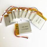 batería recargable de Lipo del polímero del litio de 3.7V 300mAh con el conector de Jst 2.0 para el receptor de cabeza 3*30*35 de Bluetooth del E-libro de la pista DVD