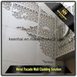 Painel de revestimento de alumínio decorativo perfurado exterior da parede