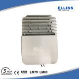 Luz de rua 100W do diodo emissor de luz do material e do Ce IP65 do corpo da lâmpada da liga de alumínio