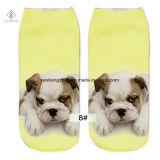 Dog 3D Europa Nueva fábrica impresos del personaje de dibujos calcetines del barco